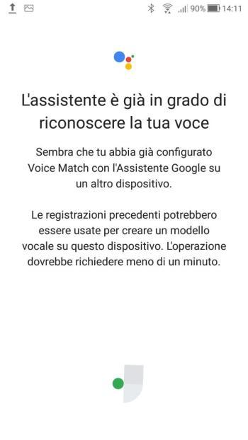 Google Home - Voice Match Già configurato