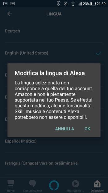 Amazon Alexa - App - Echo Plus - Lingua - Inglese