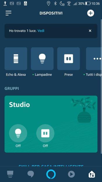 Amazon Alexa - App - Aggiungi Dispositivi - Connetti lampadina IKEA ad Alexa - Fine