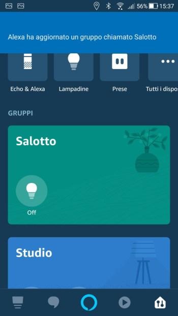 Amazon Alexa - Gruppo Salotto Modifica effettuata