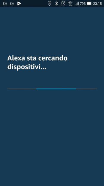 Amazon Alexa - App - Skill Ikea Tradfri - Alexa sta cercando dispositivi