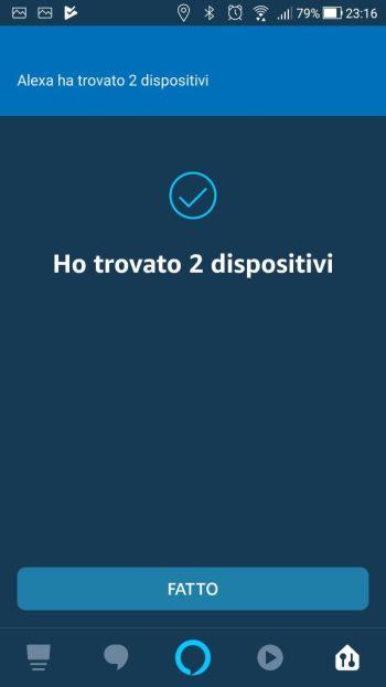 Amazon Alexa - App - Skill Ikea Tradfri - Dispositivi trovati