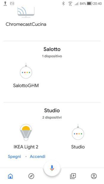 Ikea TRÅDFRI - App - Google Home - Accessorio rimosso