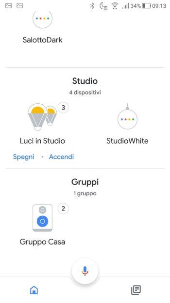 Ikea TRÅDFRI - App - Google Home - Luci studio