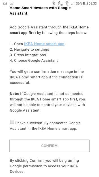 Google Home - Ikea home smart disclaimer 02
