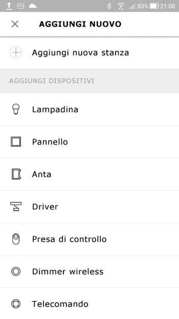 Ikea TRÅDFRI - App - Aggiungi nuovo