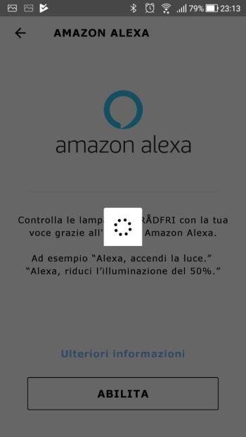 IkeaTRÅDFRI - App - Integrazione Amazon Alexa - Accesso in corso