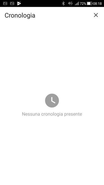 Google Chrome - Android - Cronologia - Cronologia Cancellata