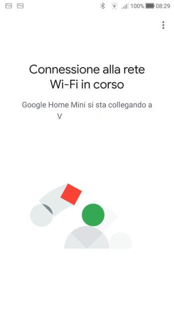 Google Home - Connessione alla rete Wi-Fi in corso