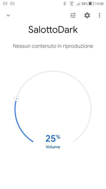 Google Home - Dispositivi - Salotto Dark