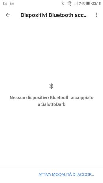 Google Home - Dispositivi - Salotto Dark - Impostazioni Dispositivo - Bluetooth