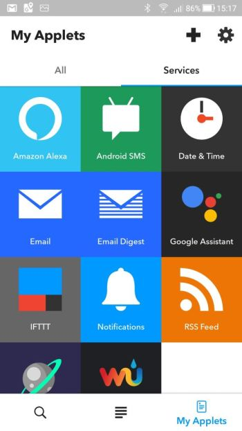 IFTTT - My Applets - Services