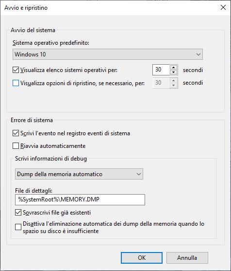 Windows 10 - Avvio e ripristino