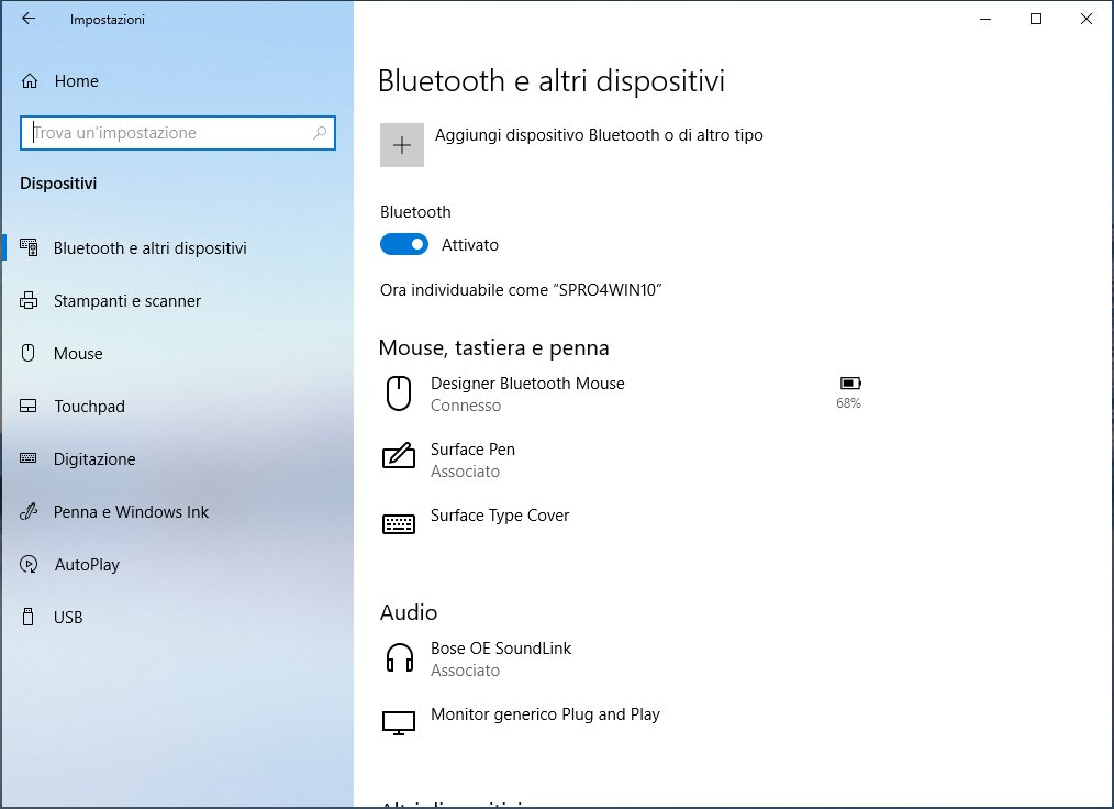 Windows10 1809 - Dispositivi e stampanti