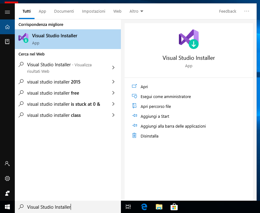 Microsoft Visual Studio 2019 - Visual Studio Installer