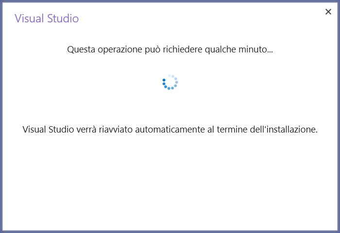 Microsoft Visual Studio 2019 - IDE - Aggiornamento - Inizio