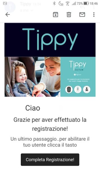 Tippy - Registrazione - Email di conferma