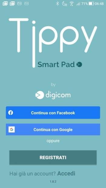 Tippy - Richiesto primo accesso