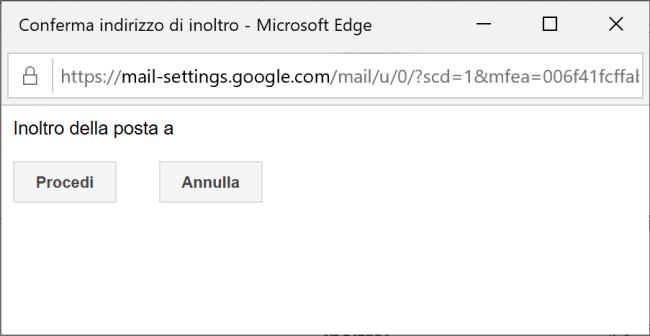 Gmail - Conferma indirizzo di inoltro