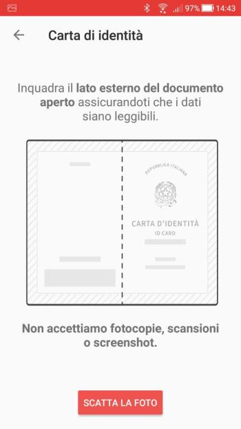 Satispay - Carta Identità Cartacea Esterno