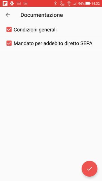 Satispay - Documentazione - Mandato per addebito diretto SEPA accettato