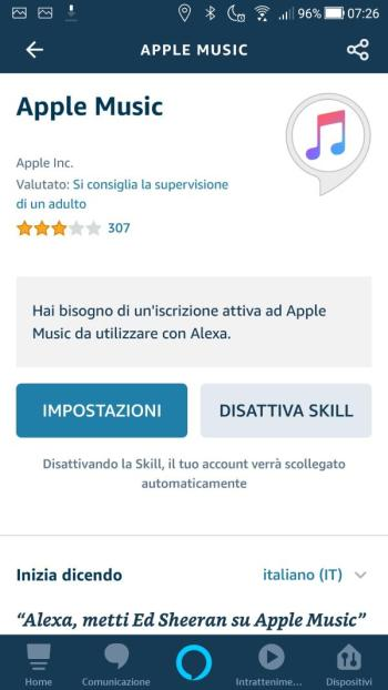 App Alexa - Apple Music - Skill