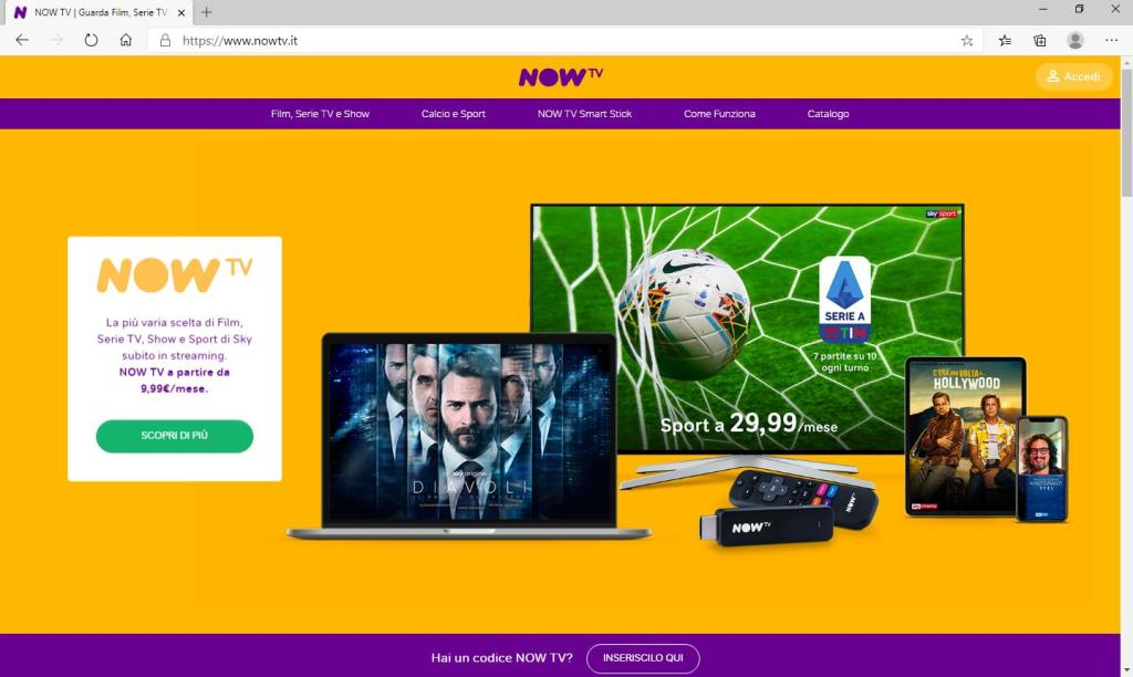 Now TV - Home Page