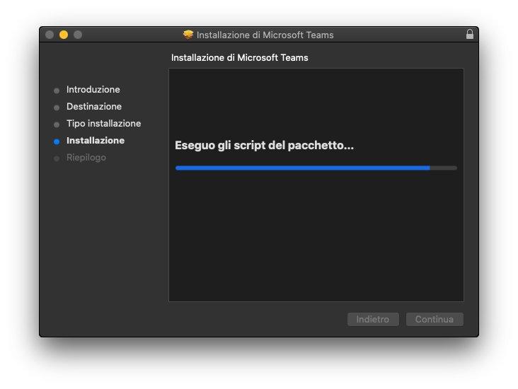 Microsoft Teams macOS - Installazione