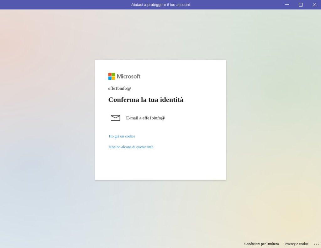 Microsoft Teams Ubuntu - Conferma la tua identità