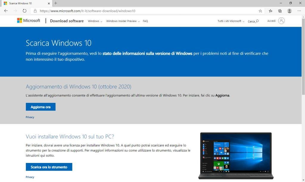 Windows 10 - 20H2 - Home Page Download