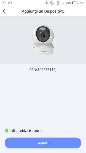App EZVIZ - Dispositivo acceso
