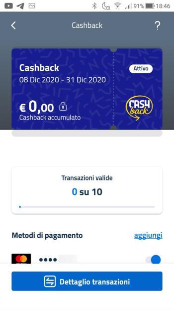 App IO - Maschera Cashback