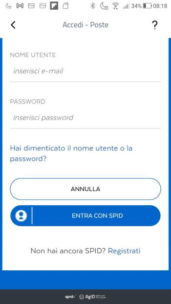 App IO - SPID - PosteID - Login