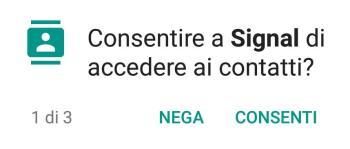 App Signal - Accesso ai contatti