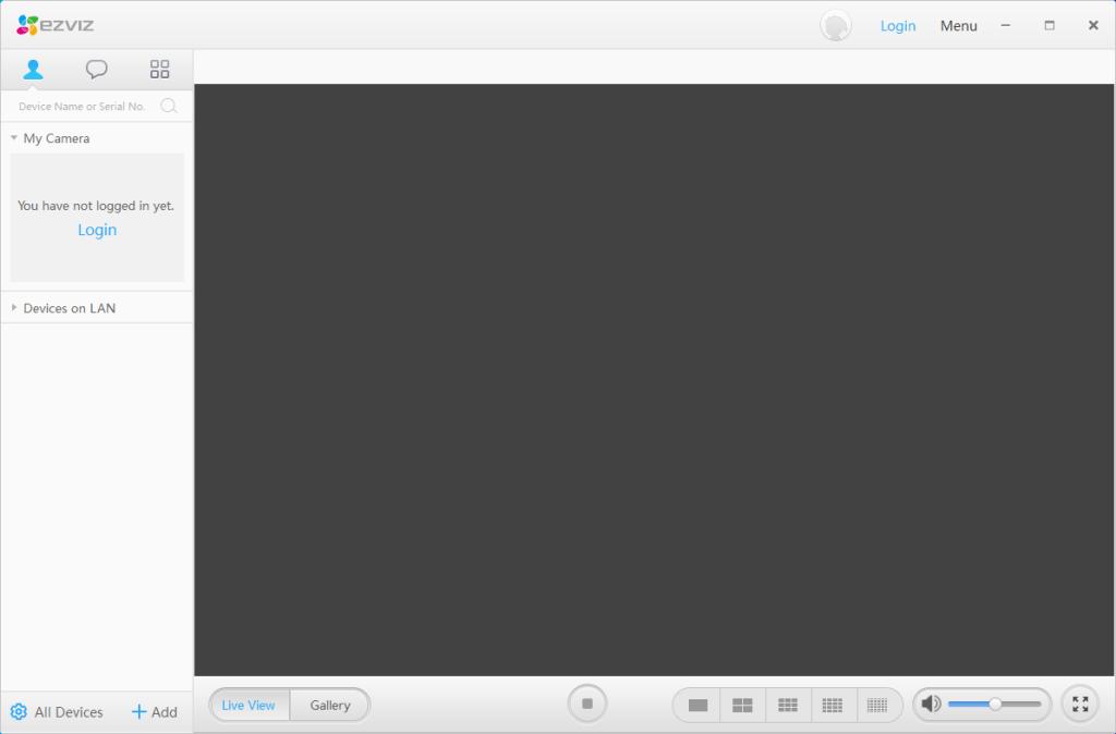 EZVIZ - PC Studio - Primo avvio