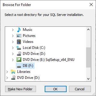 Microsoft Sql Server 2019 - Setup - Browse For Folder F