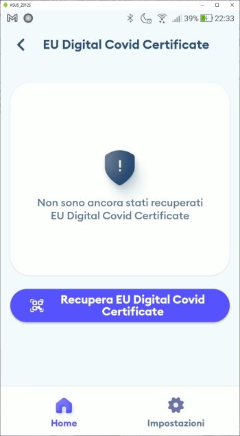 Immuni - EU Digital Covid Certificate