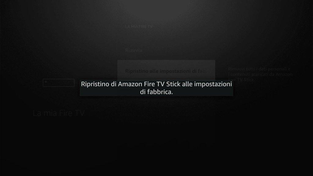 Amazon Fire TV Stick - Ripristino in corso