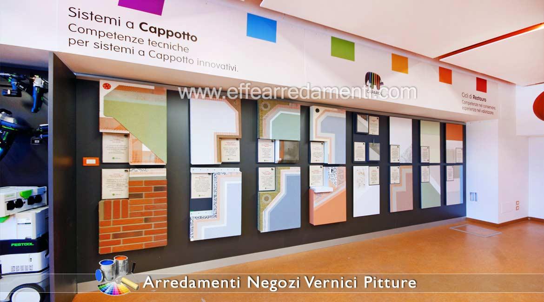 In questo caso si applica sulla parete una pittura di fondo, che viene rifinita con una speciale vernice acrilica. Shop Fittings Paint Paints Colorificio Effe Arredamenti