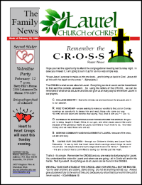 Newsletter from Laurel Church