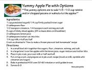 Yummy Apple Pie with options, clipart IMAGE