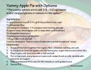 Yummy Apple Pie with options, photo IMAGE