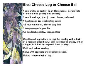 Blue Cheese Log or Cheese ball