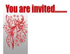 Red & black Christmas Invitation