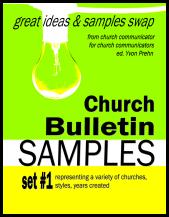 sample church bulletins