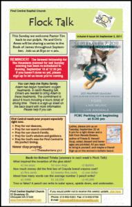 Flock Talk Newsletter