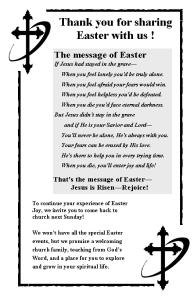 Easter Bulletin Insert B&W Panic Pack