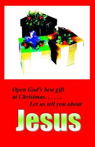 Christmas Booklet Cover or Half size Postcards#1