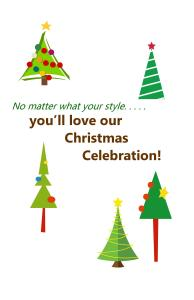 Christmas Booklet Cover or Half size Postcards#9