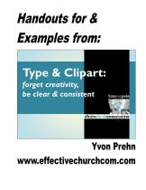 Type and Clipart Handouts Cover